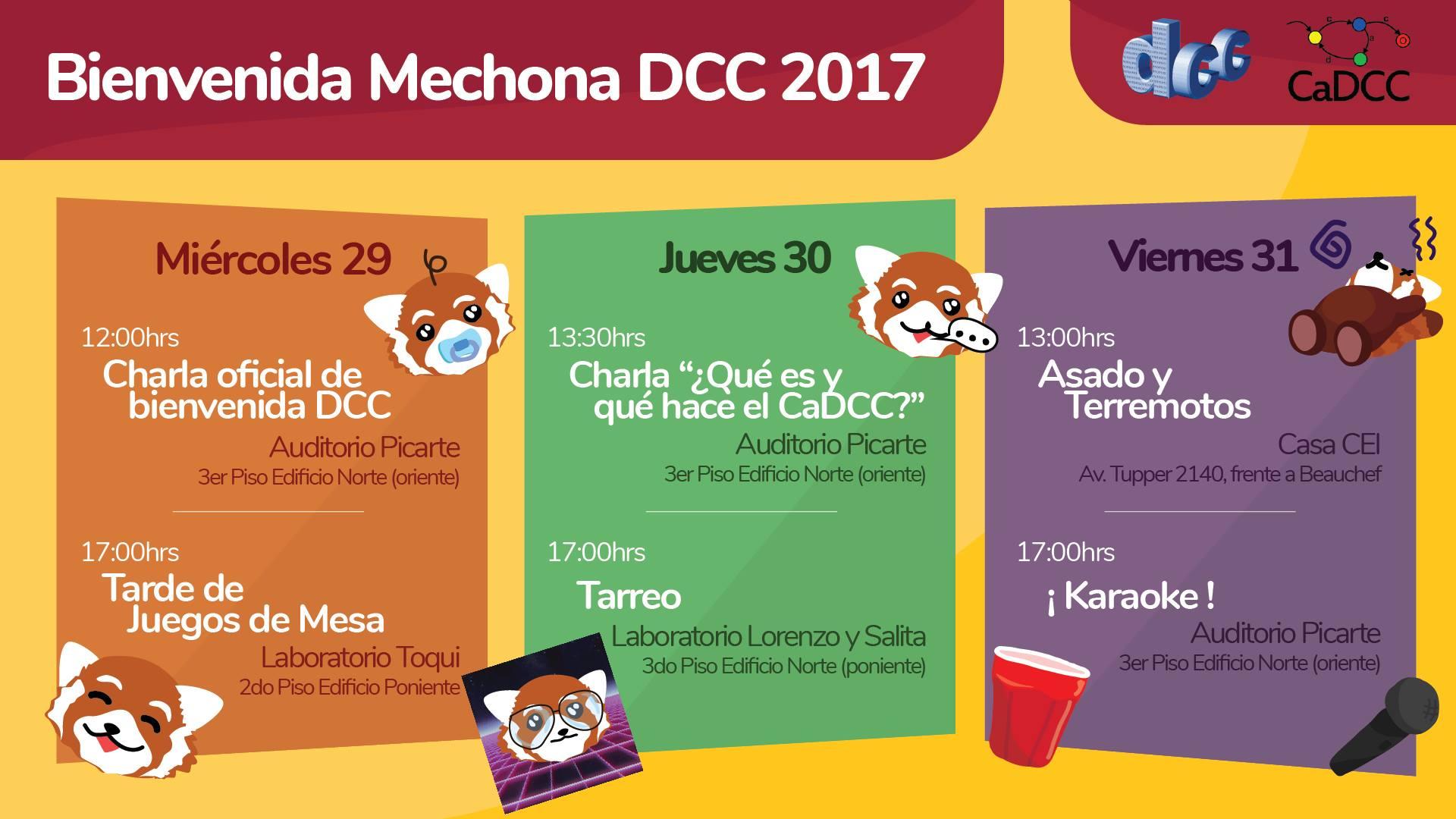 Bienvenida Mechona, Afiche Oficial